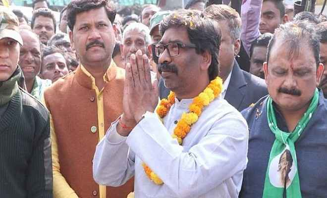 हेमंत सोरेन 29 दिसंबर को लेंगे झारखंड के 11वें मुख्यमंत्री पद की शपथ ,पूर्व राष्ट्रपति प्रणव मुखर्जी, राहुल, प्रियंका गांधी समेत कई दिग्गज होंगे शामिल