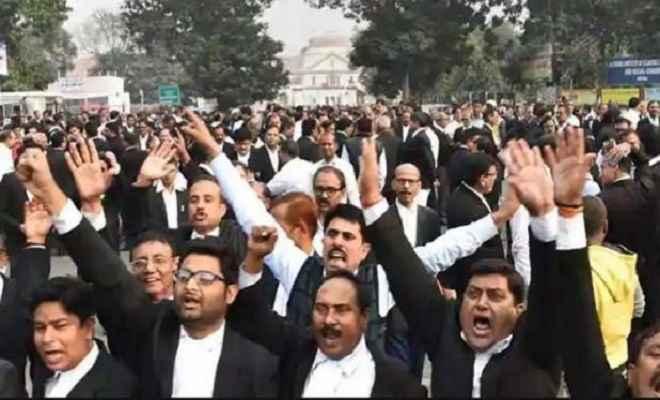 दिल्ली में वकीलों का प्रदर्शन, केंद्र से की सरकारी कर्मचारियों जैसी सुविधाओं की मांग