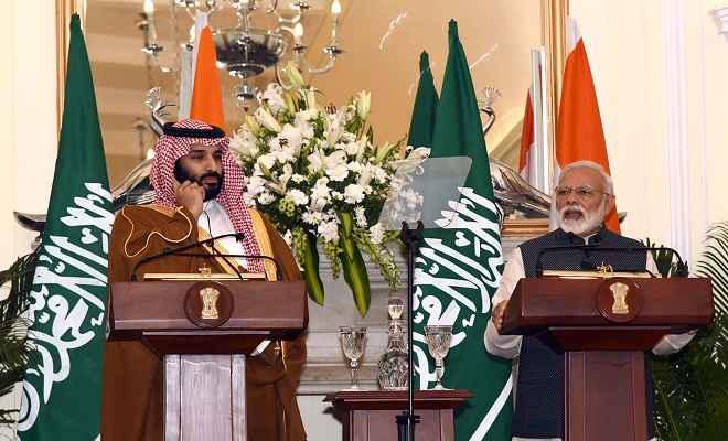 भारत और सऊदी अरब के बीच हुए पांच समझौते, प्रिंस सलमान ने भारत को सहयोग का किया वादा