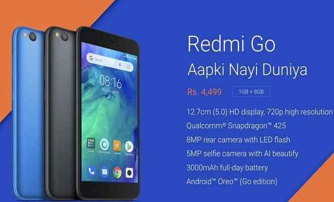 4499 रुपये वाला Redmi Go हुआ लॉन्च, मार्च 22 से Flipkart या mi.com पर उपलब्ध