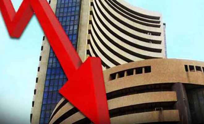 शेयर बाजार: 192 अंक की गिरावट के साथ 38,685 के स्तर पर बंद हुआ सेंसेक्स