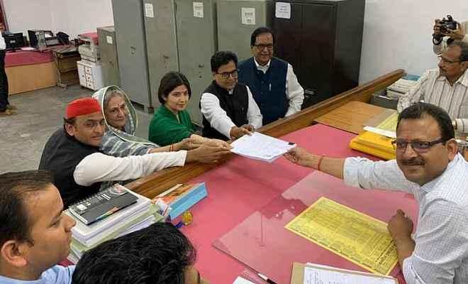कन्नौज से डिंपल यादव ने दाखिल किया नामांकन, कहा- 'भाजपा को जनता जवाब देगी'