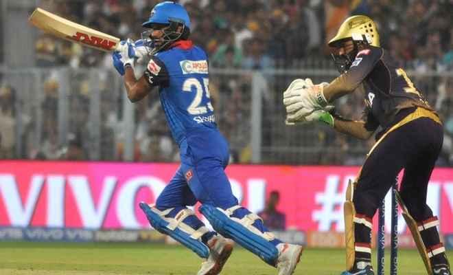 IPL-12: शिखर धवन के बल्ले का चला जादू, दिल्ली ने केकेआर को दी शिकस्त