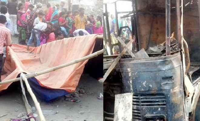 ट्रक के चपेट में आने से दो महिलाओं की मौत, कई घायल