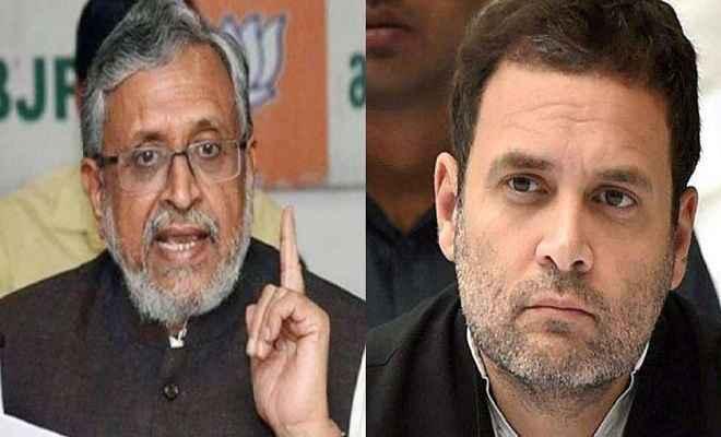'सारे मोदी चोर' वाले बयान पर फंसे राहुल गांधी, सुशील मोदी ने किया मानहानि का केस