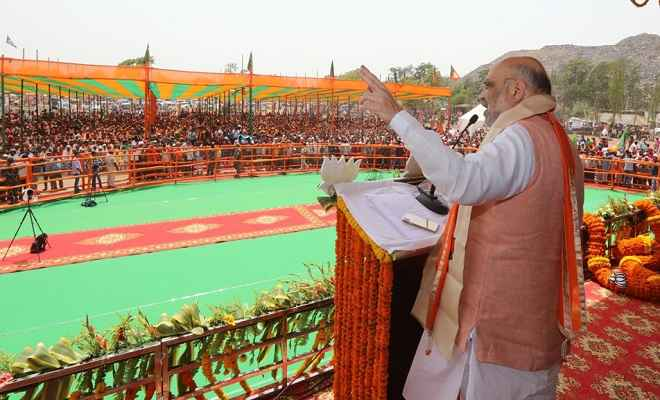 जमशेदपुर में बोले शाह- रघुवर सरकार ने कृषि विकास दर 14 फीसदी तक पहुंचाया, दी लाखों नौकरियां