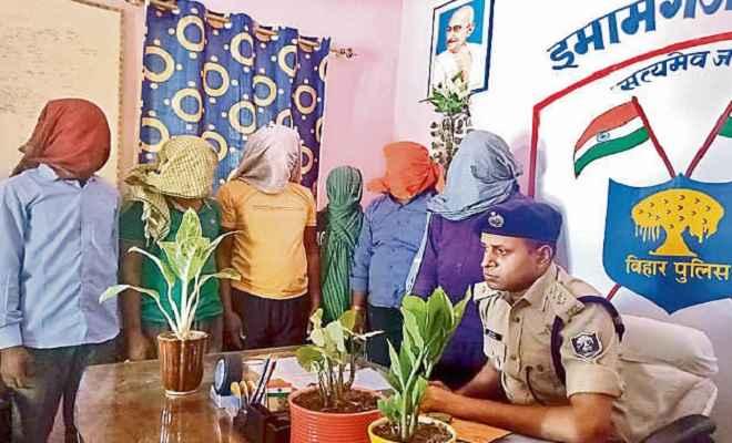 पूर्व जिलापार्षद समेत पांच नक्सली को पुलिस ने किया गिरफ्तार