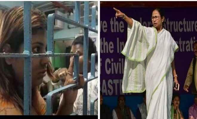 बंगाल में 'दीदी'का कहर, ममता का'मीम'पोस्ट बनाने वाली भाजयुमो की कार्यकर्ता गिरफ्तार