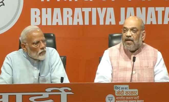 प्रधानमंत्री मोदी की पांच सालों में पहली प्रेस कॉन्फ्रेंस, बोले-पूर्ण बहुमत के साथ फिर बनेगी भाजपा की सरकार