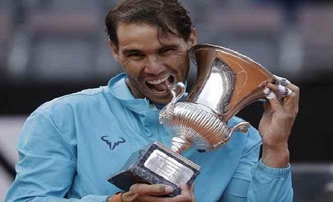 टेनिस: राफेल नडाल नौवीं बार इटालियन ओपन चैंपियन का खिताब किया अपने नाम