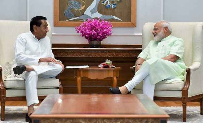 मध्यप्रदेश के सीएम कमलनाथ ने  दिल्ली में प्रधानमंत्री से की मुलाकात, दी जीत की बधाई
