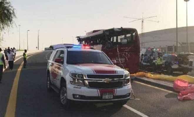 दुबई में भीषण बस हादसे में 10 भारतीयों समेत 17 लोगों की मौत