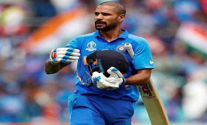 आईसीसी विश्व कप: भारतीय टीम को बड़ा झटका, विश्व कप से बाहर हुए शिखर धवन
