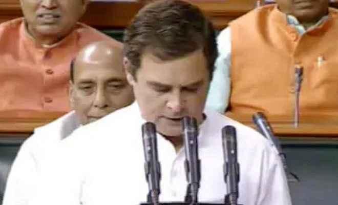 कांग्रेस अध्यक्ष राहुल  गांधी ने ली अंग्रेजी में लोकसभा की सदस्यता की शपथ