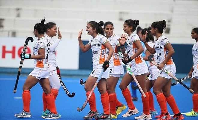 भारत ने फिजी को 11-0 से रौंदकर अंतिम चार में पहुंची भारतीय महिला हॉकी टीम
