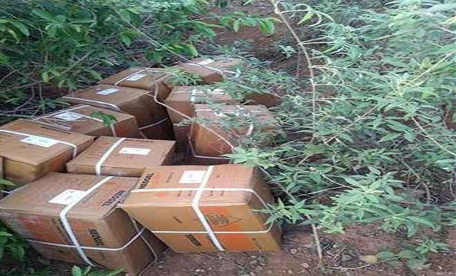 जंगल से 10 पेटी विस्फोटक बरामद, जांच पड़ताल में जुटी पुलिस