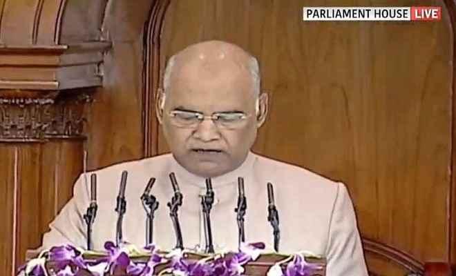 संसद के संयुक्त सत्र को संबोधित करते हुए बोले राष्ट्रपति- तीन तलाक और निकाह हलाला जैसी कुप्रथाओं का खत्म होना जरूरी