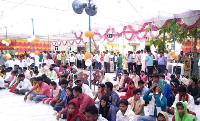 मुख्यमंत्री सामूहिक विवाह योजना के तहत जनपद में बड़ा आयोजन, 144 जोड़ों ने थामा एक दूजे के हाथ