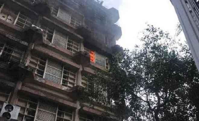 दिल्ली के किदवई भवन में लगी आग, कोई हताहत नहीं