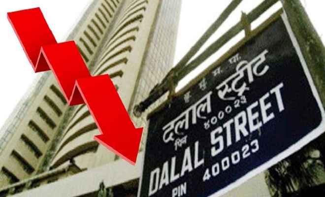 शेयर बाजार में भारी गिरावट, सेंसेक्स 374 अंक गिरा और निफ्टी 11313 के स्तर पर