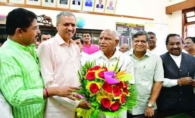 बीजेपी विधायक विश्वेश्वर हेगड़े कागेरी कर्नाटक विधानसभा के नए स्पीकर निर्वाचित