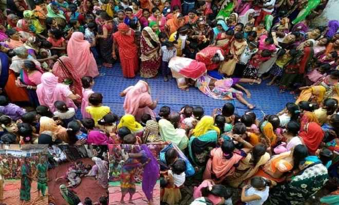 महिलाओं का अनोखा दंगल: गांव की घूंघट वाली महिलाएं दंगल में दिखाती हैं दांवपेंच