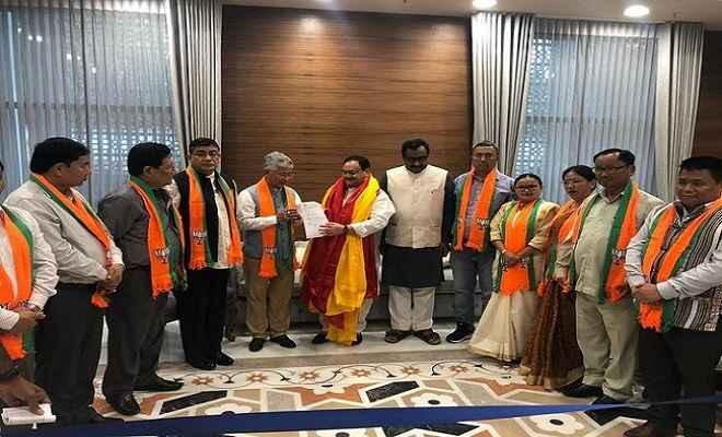 सिक्किम में मिली बड़ी सफलता, सिक्किम डेमोक्रेटिक फ्रंट के 13 में से 10 विधायक भाजपा में शामिल
