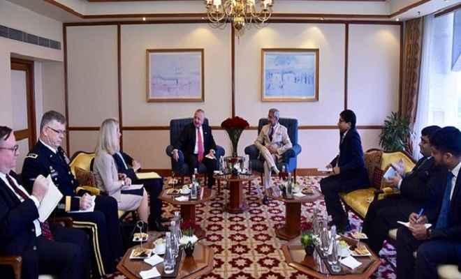 अमेरिकी विदेश विभाग के उप सचिव जॉन सुलिवन ने विदेश मंत्री जयशंकर से की मुलाकात