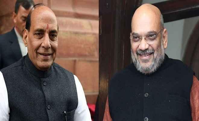 राजनाथ के घर पर 'ग्रुप ऑफ मिनिस्टर्स' की  बैठक हुई शुरू, गृह मंत्री अमित शाह भी पहुंचे