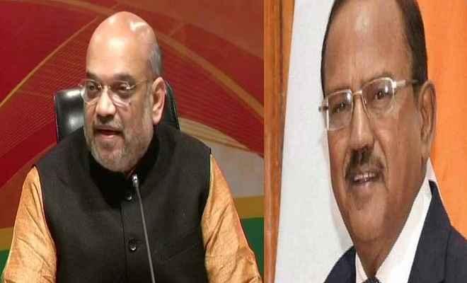 जम्मू-कश्मीर के मौजूदा हालात पर केंद्रीय गृह मंत्री शाह और डोभाल ने की उच्चस्तरीय बैठक