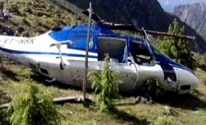 बाढ़ राहत कार्य में लगा एक हेलिकॉप्टर बिजली के तारों में उलझकर हुआ क्रैश