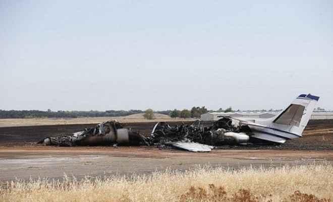 कैलिफोर्निया: भयंकर आग की लपटों में फंसा विमान, चालक सहित सभी यात्री सुरक्षित