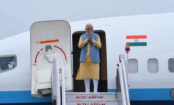 प्रधानमंत्री मोदी जी-7 समिट में हिस्सा लेने फ्रांस रवाना, वापसी में यूएई और बहरीन भी जाएंगे