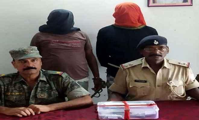 पुलिस ने टीपीसी के दो उग्रवादियों को किया गिरफ्तार, देशी पिस्तौल व पर्चा बरामद
