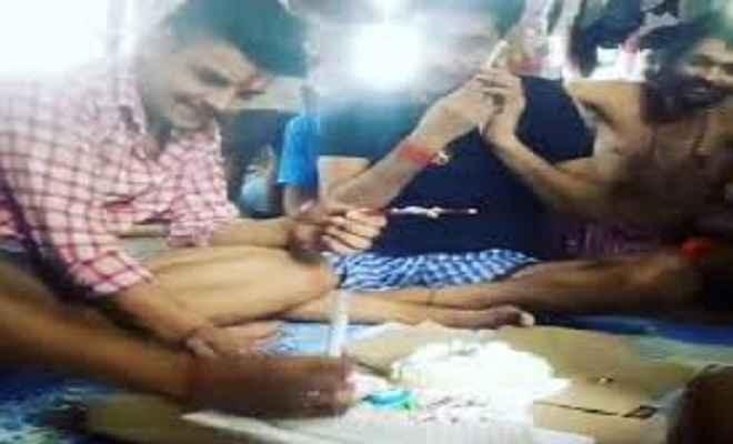 सीतामढ़ी के बाद अब छपरा जेल में कैदी ने मनाया जन्मदिन, सोशल मीडिया इंस्टाग्राम पर शेयर की तस्वीरें