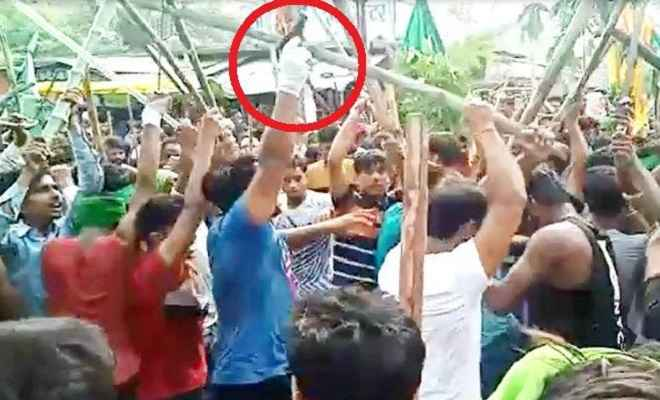 मोहर्रम के जुलूस में युवक का पिस्टल लहराते हुए वीडियो वायरल, जांच में जुटी पुलिस