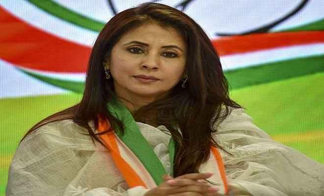 अभिनेत्री उर्मिला मातोंडकर ने कांग्रेस पार्टी से दिया इस्तीफा, गुटबाजी का लगाया आरोप