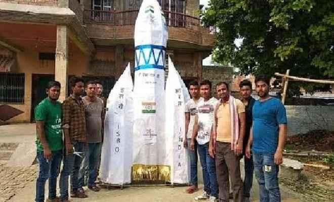युवाओं ने मुहर्रम के मौके पर चंद्रयान-2 की शक्ल में बनाया ताजिया, लैंडर विक्रम की सफल होने की मांगी दुआ