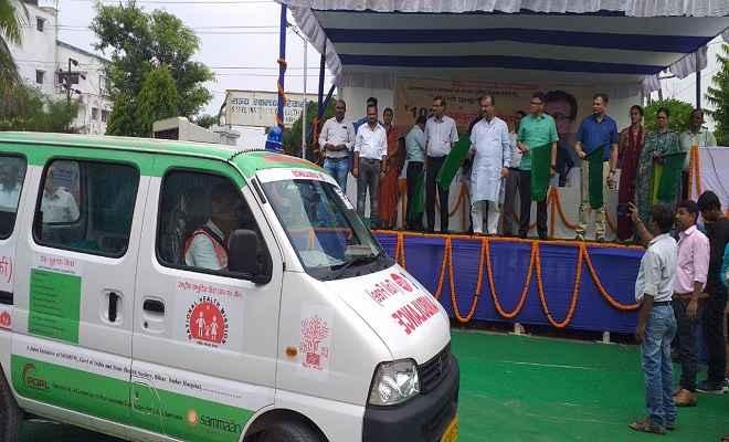 बिहार में पहले से अधिक मरीजों को उपलब्ध हुई सुविधा, 41 नए एम्बुलेंस को दिखाई गयी हरी झंडी
