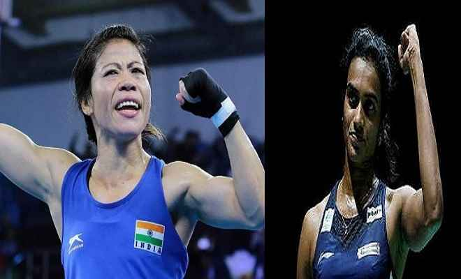 मैरीकॉम पद्म विभूषण के लिए नामित होने वाली पहली महिला एथलीट, पद्म भूषण के लिए सिंधु
