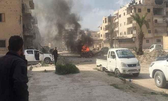 सीरिया के उत्तरी प्रांत एलेप्पो में भीषण बम धमाके से 11 लोगों की मौत, 23 घायल
