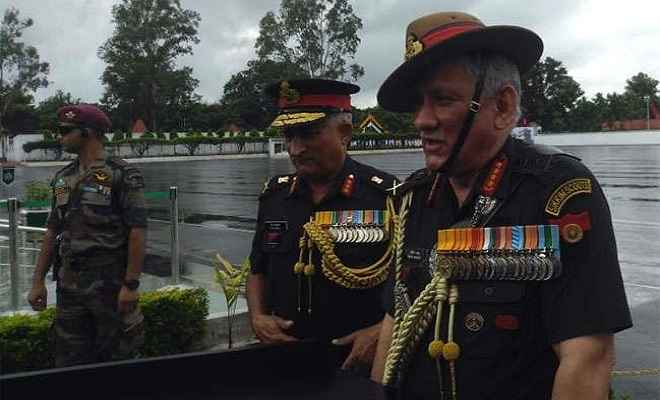 सेना प्रमुख जनरल बिपिन रावत दो दिवसीय दौरे पर पहुंचे झारखंड, सैन्य अधिकारियों से करेंगे संवाद