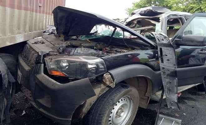 हंसराज अहीर के काफिले में शामिल गाड़ी का एक्सीडेंट, सीआरपीएफ जवान समेत दो की मौत