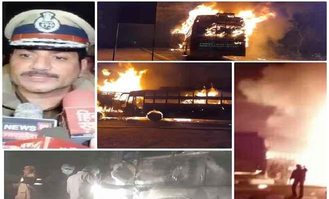 कन्नौज में ट्रक व डबल डेकर टूरिस्ट बस की टक्कर में 35 यात्रियों की मौत