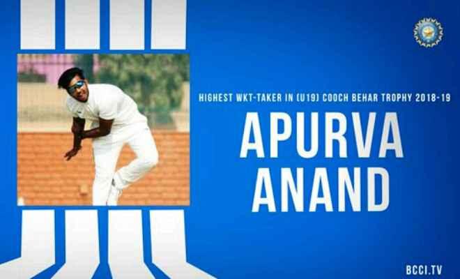 विराट कोहली के हाथों सम्मनित हुए बिहार के फिरकी गेंदबाज अपूर्व आनंद