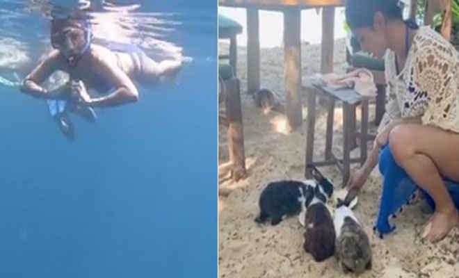 मछलियों के साथ-साथ यूं तैरती आईं नजर एक्ट्रेस मौनी रॉय, दिखाया समुद्र के अंदर का नजारा, शेयर की ये Video