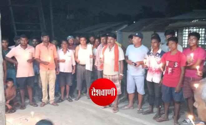 हाथरस गैंगरेप के हत्यारे को फांसी देने को लेकर जनाधिकार पार्टी के कार्यकर्ताओं ने आदापुर में निकाला कैंडिल मार्च