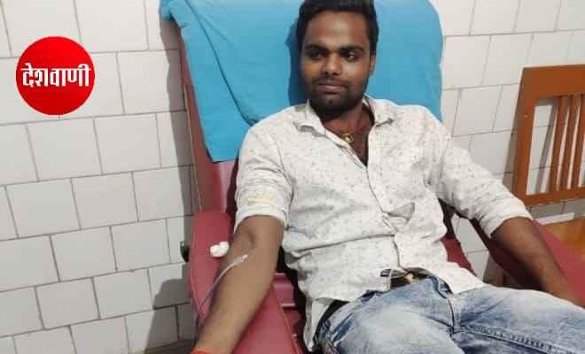 नरकटियागंज में रक्तदान कर सीबीएम के राकेश ने बचाई रूपेश की जान