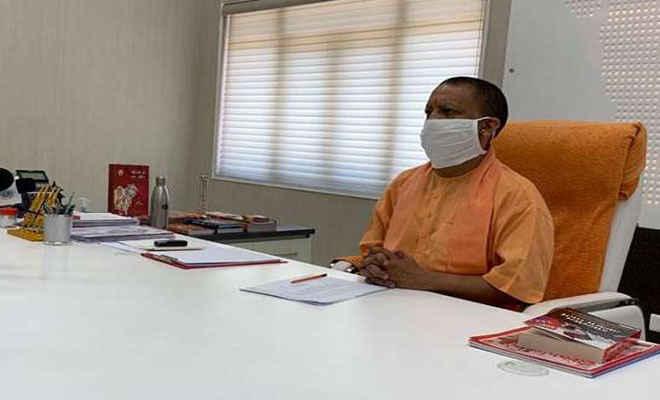 मुख्यमंत्री आदित्यनाथ ने पार्टी कार्यकर्ताओं को किया संबोधित, कहा - अपराधियों का मानमर्दन करता है यह नया यूपी