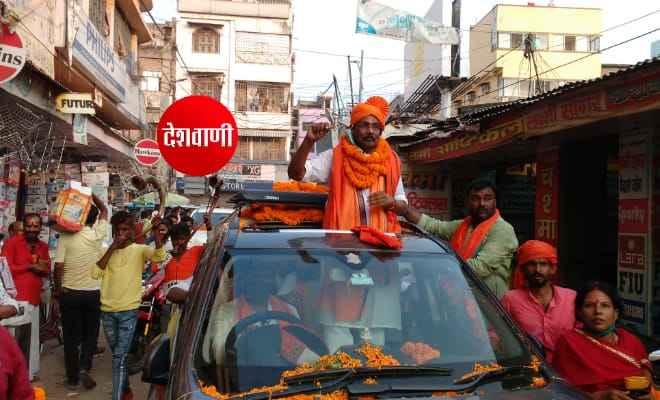 रक्सौल: भाजपा प्रत्याशी प्रमोद कुमार सिन्हा ने रोड शो कर लोगों से की अपील